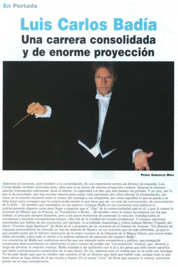 A Consolidated Carreer and a huge artistic projection (Spain)