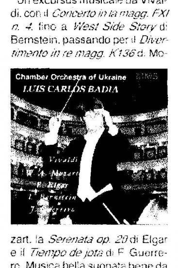 Vivaldi – Mozart – Elgar – Bernstein – Guerrero:  Stylistic Intelligence and Wisdom (Italy)