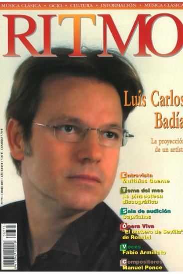 Portada de revista– La proyección de un artista. (España)