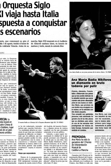 21th Century Orchestra  in Italy: Ready to succeed (Spain)