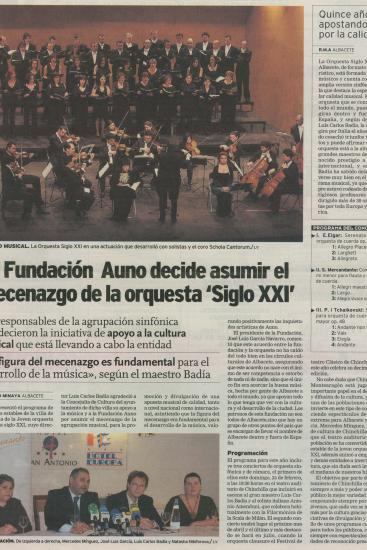Auno  - Fundation sponsors 21th Century Orchestra. (Spain)