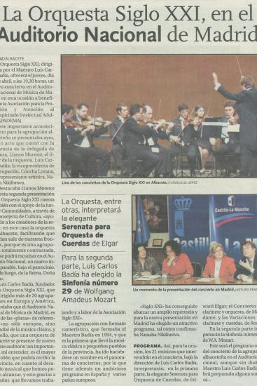 21th Century Orchestra at the Auditorio Nacional (Spain)