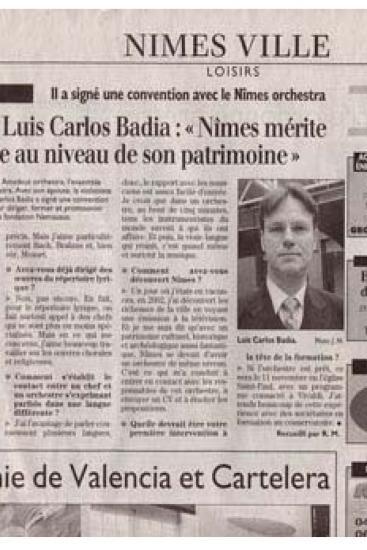 Nimes merece una orquesta al nivel de su patrimonio (Francia)