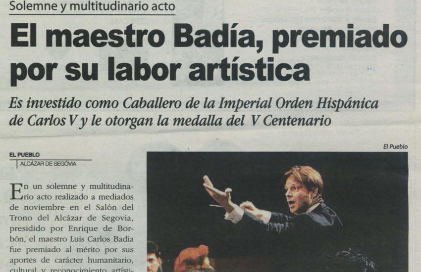 Badia reconocido por su labor artística(España)