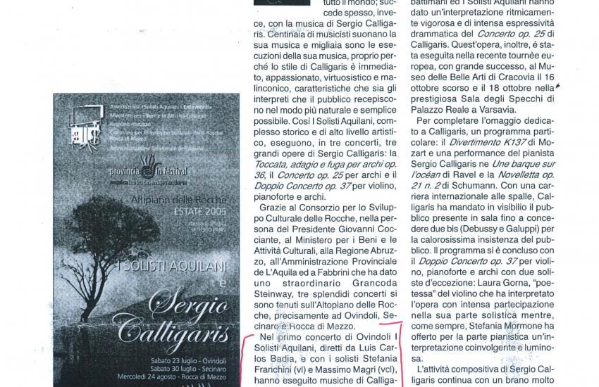 Apasionada y Lírica interpretación. (Italia)