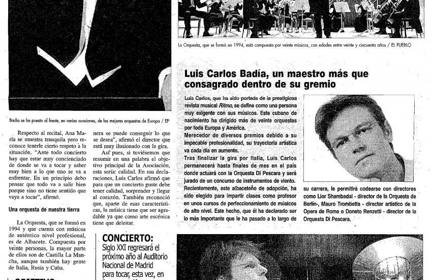 """Luis Carlos Badía: Consolidated """"Maestro"""" in his guild. (Spain)"""