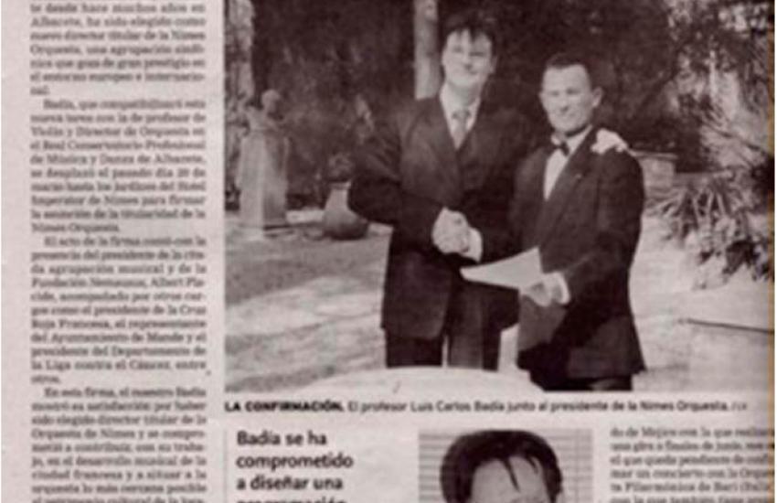 Luis Carlos Badía: Selected Chief Conductor in Nimes (France)