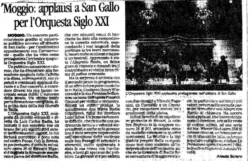 Ovation in San Gallo (Italy)