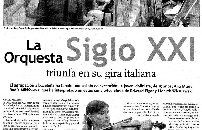 21th Century Orchestra triumphs in them Italian tour (Spain)