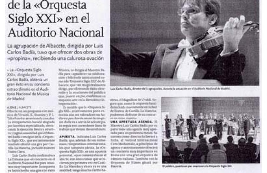 Acclaimed at the Auditorio Nacional (Spain)