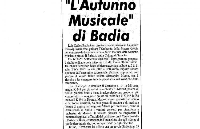 The Musical Autumn (Italy)