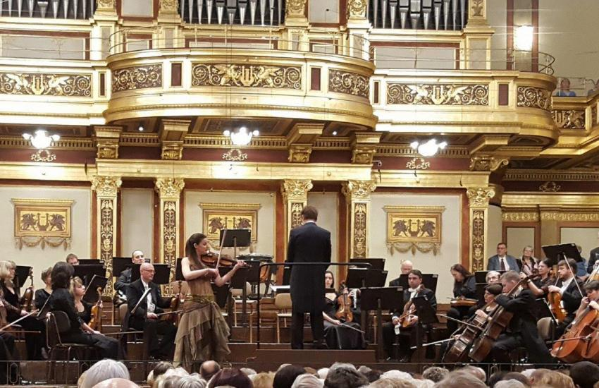 Publication by Spanish Embassy about Musikverein's concert (Austria)